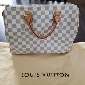 Louis Vuitton Speedy 30 Damier Azure